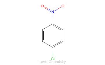 CAS:100-00-5_4-硝基氯苯的分子结构