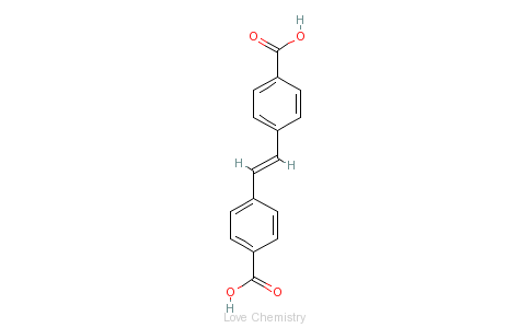 CAS:100-31-2_4,4'-二苯乙烯二羧酸的分子结构