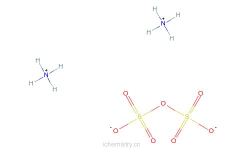 CAS:10031-68-2_焦硫酸铵的分子结构