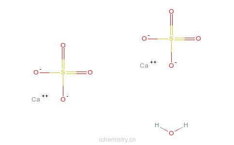 CAS:10034-76-1_硫酸钙的分子结构