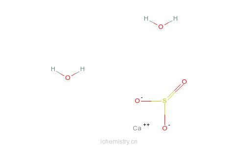 CAS:10035-03-7_亚硫酸钙,二水的分子结构