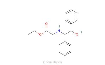 CAS:100678-82-8_2-((1S,2R)-2-羟基-1,2-二苯基乙基氨基)乙酸乙酯的分子结构