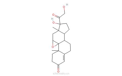 CAS:10072-97-6_9,11-环氧孕甾-4-烯-17&alpha的分子结构