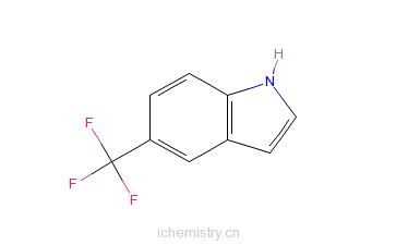 CAS:100846-24-0_5-(三氟甲基)吲哚的分子结构