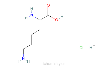 CAS:10098-89-2_盐酸赖氨酸的分子结构