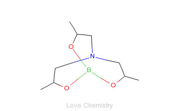 CAS:101-00-8_三异丙醇胺环硼酸酯的分子结构