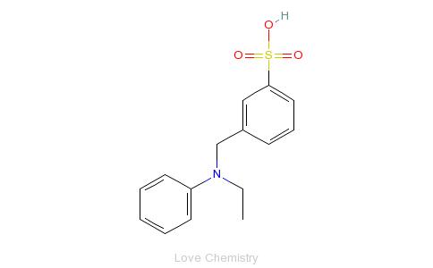 CAS:101-11-1_N-乙基-N-(3'-磺酸苄基)苯胺的分子结构