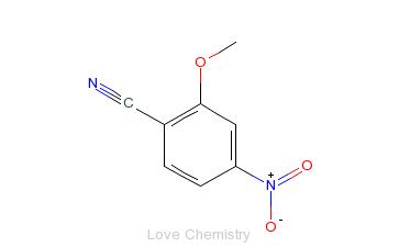 CAS:101084-96-2_2-甲氧基-4-硝基苯甲腈的分子结构