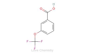 CAS:1014-81-9_3-(三氟甲氧基)苯甲酸的分子结构