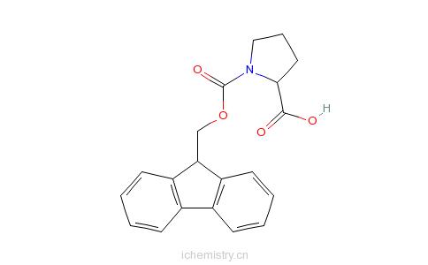 CAS:101555-62-8_Fmoc-D-脯氨酸的分子结构