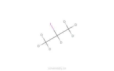 CAS:101927-33-7_2-碘丙烷-d7的分子结构