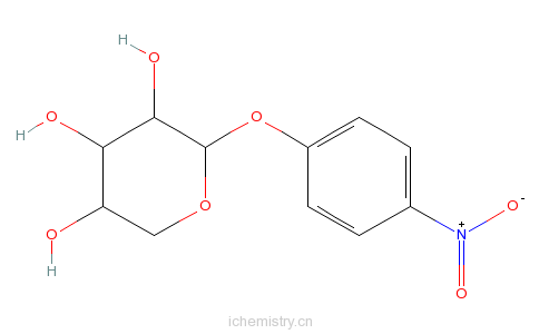 CAS:10238-28-5_对硝基苯-α-D-吡喃木糖的分子结构