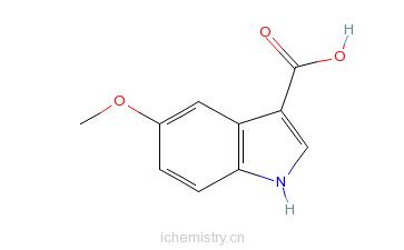 CAS:10242-01-0_5-甲氧基吲哚-3-羧酸的分子结构