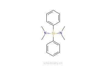 CAS:1027-62-9_二(二甲氨基)二苯基硅的分子结构