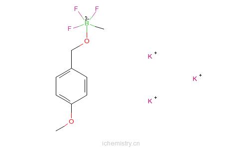CAS:1027642-26-7_(4-甲基)苄氧基甲基三氟硼酸钾的分子结构