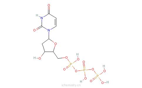 CAS:102814-08-4_2'-脱氧尿苷-5'-三磷酸三钠盐的分子结构
