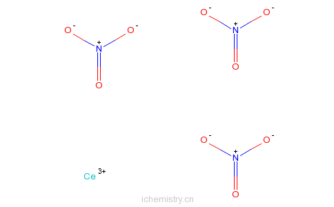 CAS:10294-41-4_硝酸铈的分子结构