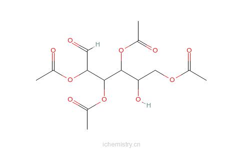 CAS:10343-06-3_2,3,4,6-四乙酰-D-葡萄糖的分子结构