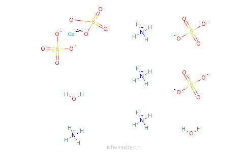 CAS:10378-47-9_硫酸铈铵二水合物的分子结构