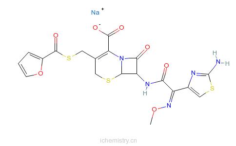 CAS:104010-37-9_头孢噻呋钠的分子结构