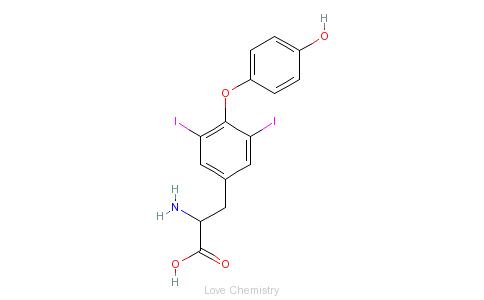 CAS:1041-01-6_3,5-二碘-L-甲状腺素的分子结构