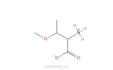 CAS:104195-80-4_(2S,3S)-2-氨基-3-甲氧基丁酸的分子结构