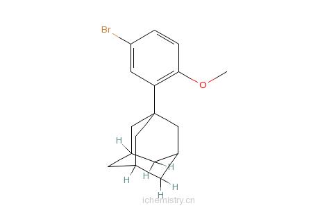 CAS:104224-63-7_2-(1-金刚烷基)-4-溴苯甲醚的分子结构