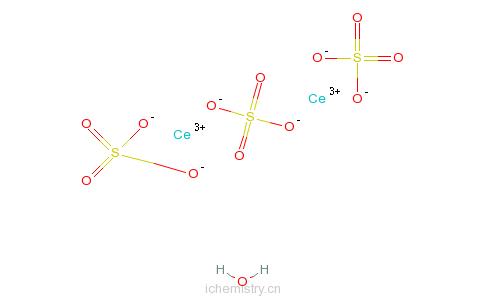 CAS:10450-59-6_硫酸亚铈八水合物的分子结构