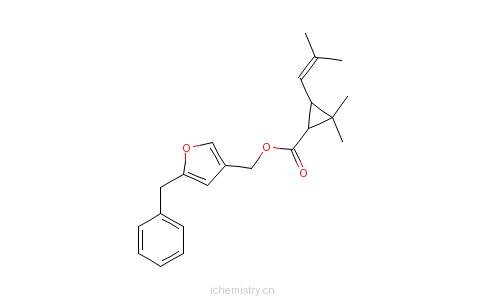 CAS:10453-86-8_苄呋菊酯的分子结构