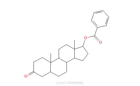 CAS:1057-07-4_17-安息香酸雄甾醇酮的分子结构