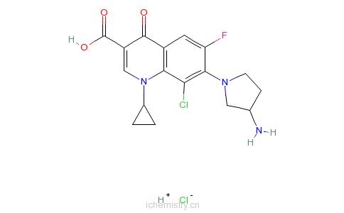 CAS:105956-99-8_盐酸克林沙星的分子结构