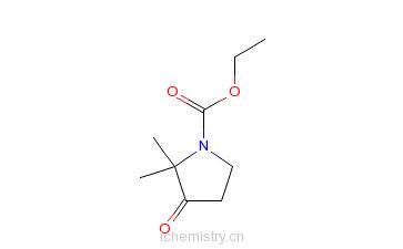 CAS:106556-66-5_2,2-二甲基-3-羰基-吡咯啉-1-羧酸乙酯的分子结构