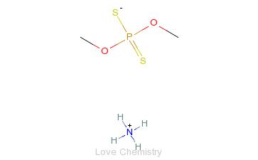 CAS:1066-97-3_O,O-二甲基二硫代磷酸铵的分子结构