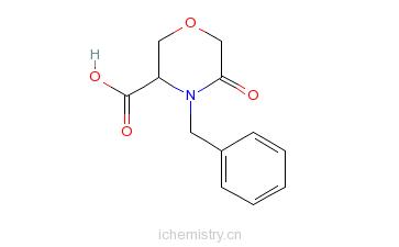 CAS:106910-79-6_(S)-4-苄基-5-氧代吗啉-3-羧酸的分子结构