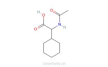 CAS:107020-80-4_N-乙酰基-DL-环己基甘氨酸的分子结构