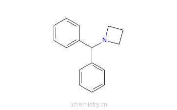 CAS:107128-00-7_1-二苯甲基氮杂环丁烷的分子结构