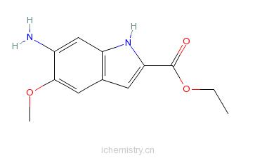 CAS:107575-60-0_6-氨基-5-甲氧基吲哚-2-甲酸乙酯的分子结构
