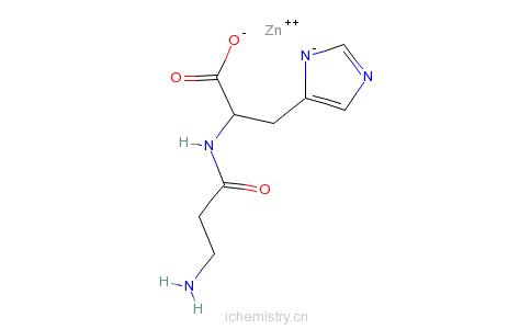 CAS:107667-60-7_L-肌肽锌的分子结构
