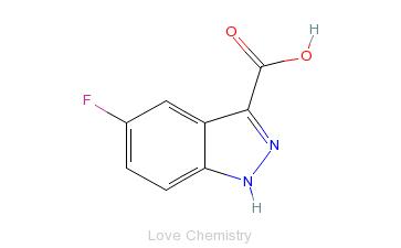 CAS:1077-96-9_5-氟吲唑-3-羧酸的分子结构