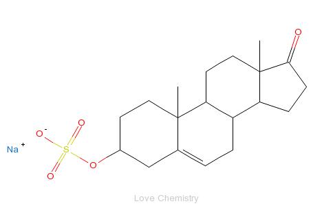 CAS:1099-87-2_去氢表雄酮硫酸钠的分子结构