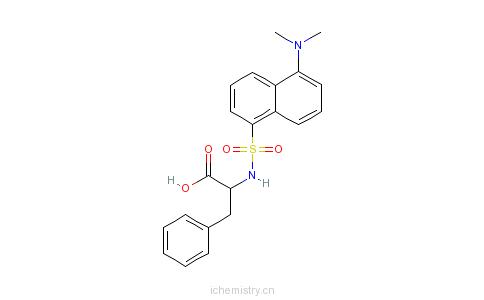 CAS:1104-36-5_丹磺酰-L-苯丙氨酸的分子结构