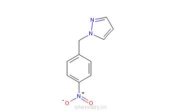CAS:110525-57-0_1-[(4-硝基苯)甲基]吡唑的分子结构