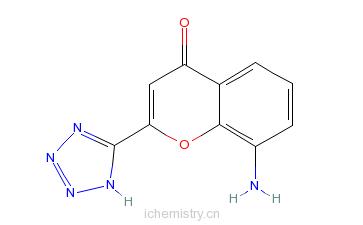CAS:110683-22-2_8-氨基-2-(1H-四唑-5-基)-4H-1-苯并吡喃-4-酮的分子结构