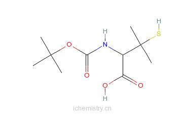 CAS:110763-40-1_N-Boc-L(+)-青霉胺的分子结构