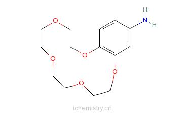 CAS:111076-66-5_4'-氨基苯并-15-冠-5-醚盐酸盐的分子结构