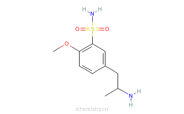 CAS:112244-38-9_5-(2-氨基丙基)-2-甲氧基苯磺酰胺的分子结构