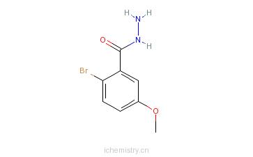 CAS:112584-40-4_2-溴-5-甲氧基苯-1-羰酰肼的分子结构