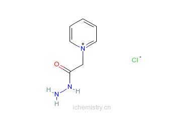 CAS:1126-58-5_氯化乙酰肼吡啶的分子结构