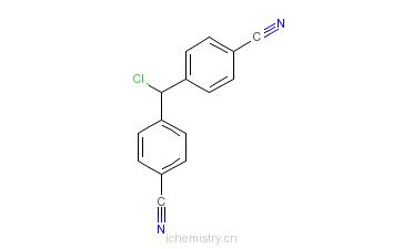 CAS:112809-57-1_4-[alpha-(4-氰基苯基)氯甲基]苯甲腈的分子结构