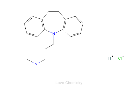 CAS:113-52-0_盐酸丙咪嗪的分子结构